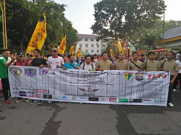 Sambut HPN, PWI dan Komunitas Wartawan Kota Binjai Gelar Jalan Santai