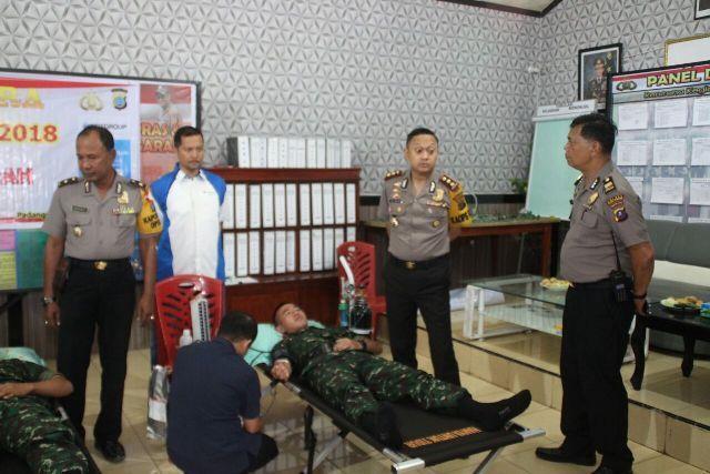 Giat Satgas Nusantara, Polres Padangsidempuan Gelar Bakti Kesehatan dengan Donor Darah