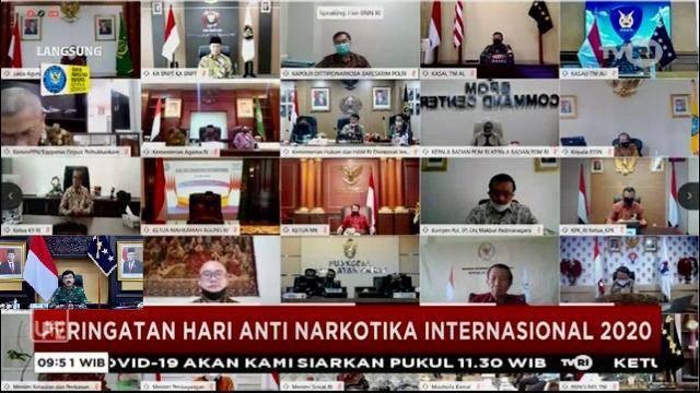Panglima TNI Ikuti Peringatan Hari Anti Narkotika Internasional
