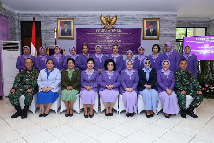 Ny Dilla Rochadi Resmi Menjabat Ketua IKKT PWA Cabang 9 Koopssus TNI