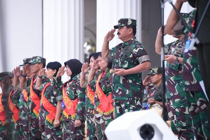Panglima TNI Saksikan Gladi Bersih Pelantikan Praspa TNI-Polri di Istana Negara