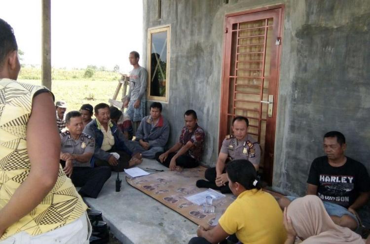 Konflik Lahan dengan Ponpes, Polsek Kutalimbaru Gelar Pertemuan dan Binluh kepada Kelompok Petani