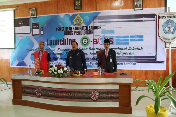 Bupati Samosir Buka Launching Aplikasi e-Bos