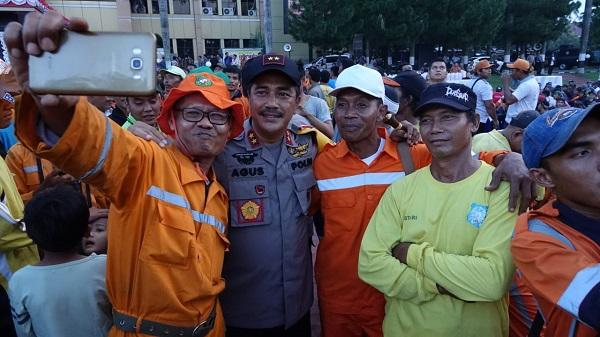 Kapolda Sumut Bertemu dengan Ribuan Pahlawan Kebersihan Kota Medan